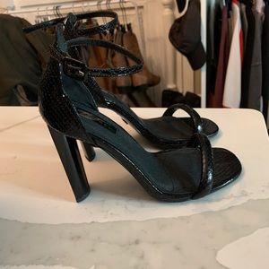 Top shop black snake heels